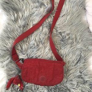 Kipling red crossbody bag
